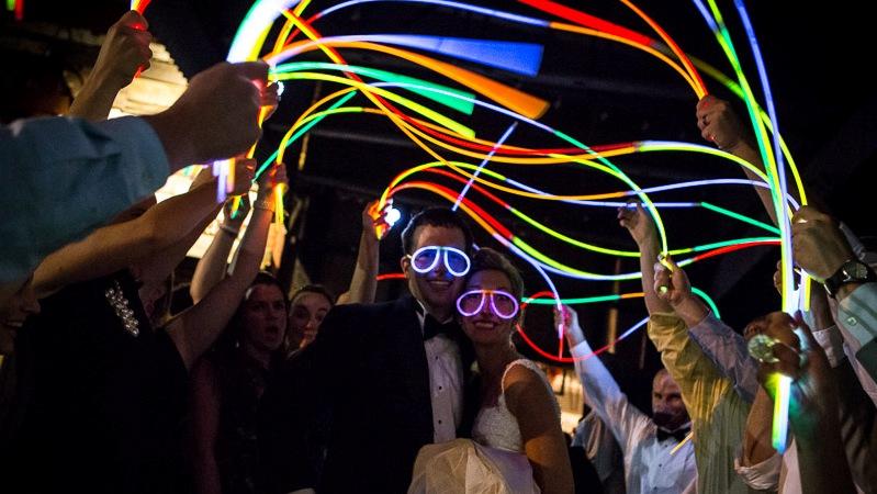 Baile de Casamento Glow e Fluorescente
